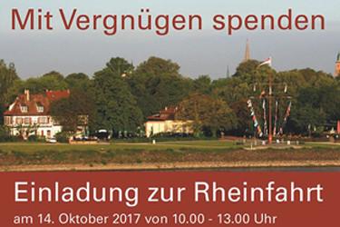 Einladung zur Rheinfahrt 14.Oktober 2017